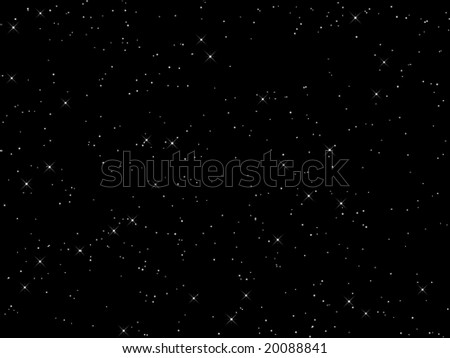 Nigh sky with lots of stars - stock photo