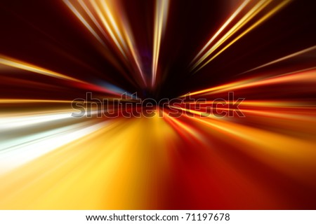 night acceleration speed motion - stock photo