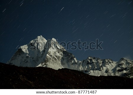 Night Ama-Dablam - stock photo