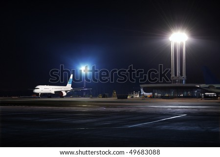 Night at the airport.