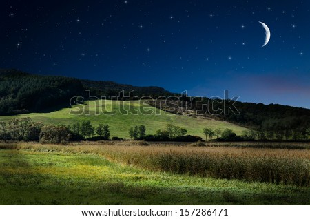 night background - stock photo