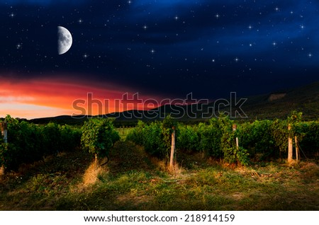Night background. Elements of this image furnished by NASA. - stock photo