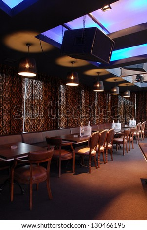Night Bar Interior - stock photo