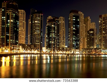 Night city - stock photo