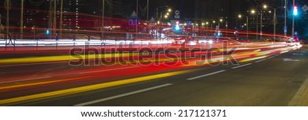Night city background - stock photo