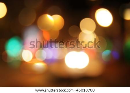 night city bokeh background - stock photo