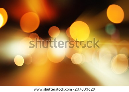Night city bokeh background. Abstract light background.