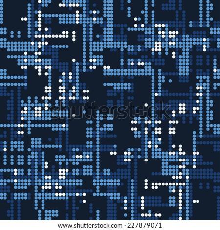 Night City Dot. Seamless pattern. - stock photo