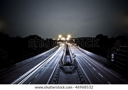 night city street - stock photo