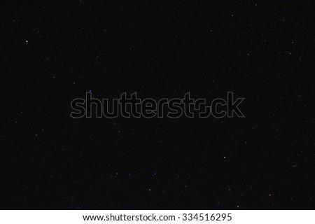 Night clear sky with many stars - stock photo