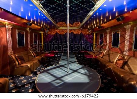Night club interior - stock photo