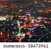 Night Damascus view - stock photo