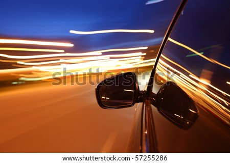 night drive - stock photo