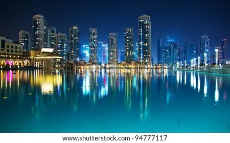 Night Dubai - stock photo