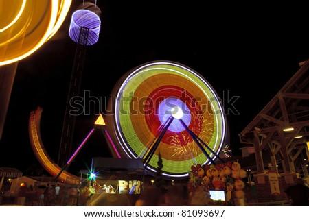 Night Entertainment at Kemah, Texas - stock photo