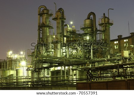 Night Factory - stock photo
