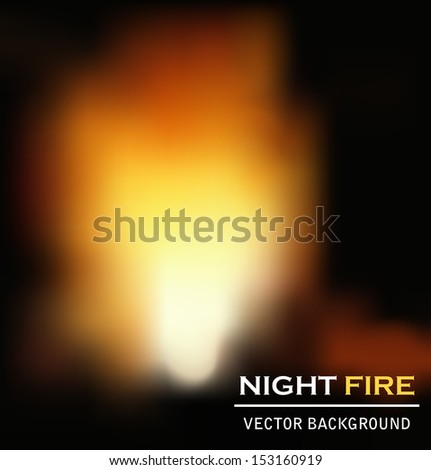 night fire background - stock photo