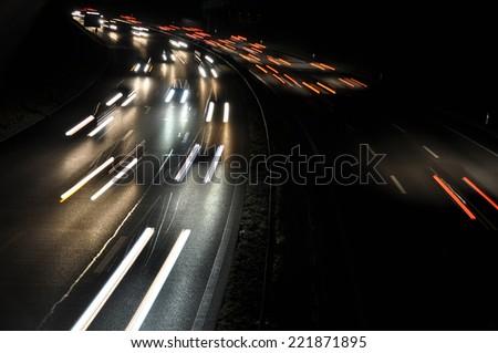 Night highway  - stock photo