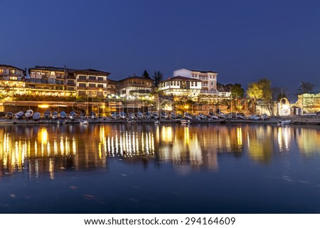 Night in old town of Nessebar