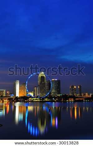 night in singapore city