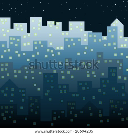 Night in the City - stock photo
