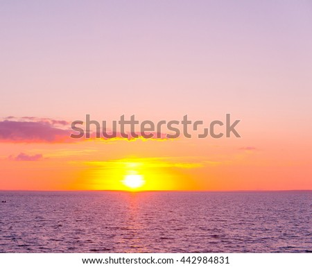 Night is Coming Magnificent View  - stock photo