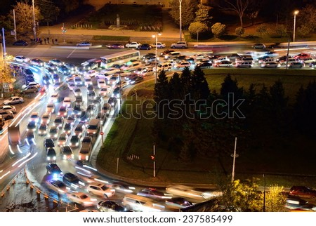 night jam on the urban street - stock photo