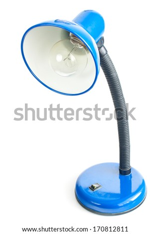 Night lamp isolated on white background - stock photo