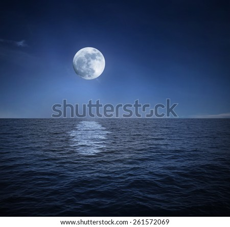 night landscape - stock photo