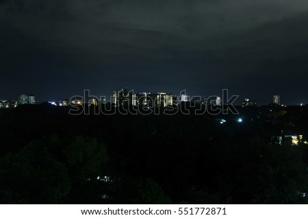 night landscape city in Chiang mai province,Thailand
