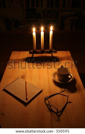 night letter - stock photo