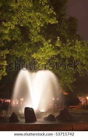night light for the beauty park fountain - stock photo