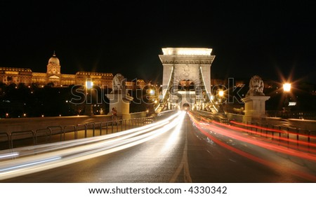 Night light in Budapest. 2.
