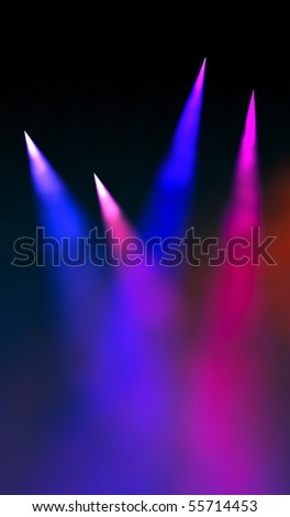 Night light show - stock photo