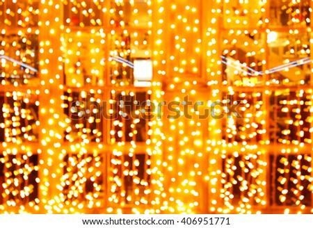 Night lighting storefronts in Odessa - stock photo