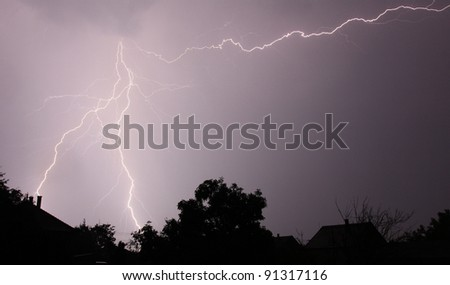 Night lightning - stock photo