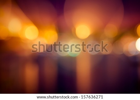 Night lights at a festival - stock photo