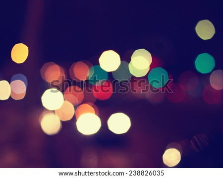 Night lights blurred background - stock photo