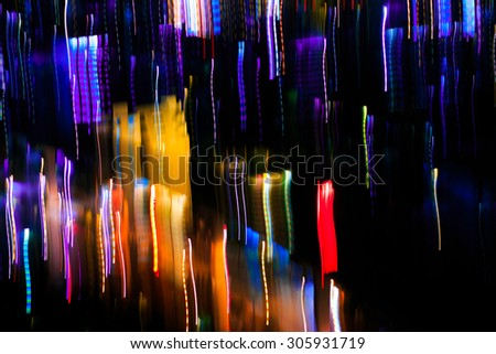 Night lights in city ,Bangkok Thailand - stock photo