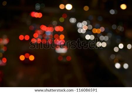 Night lights of the city - stock photo