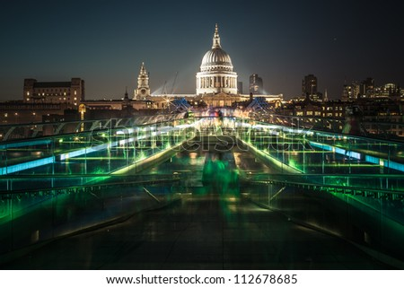 Night London - stock photo