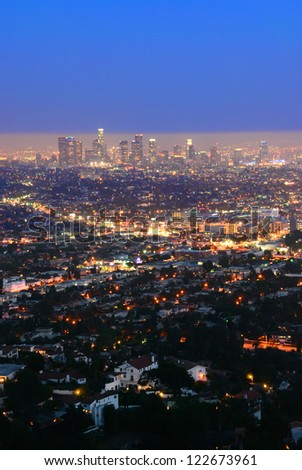 Night Los Angeles. California. The United States.