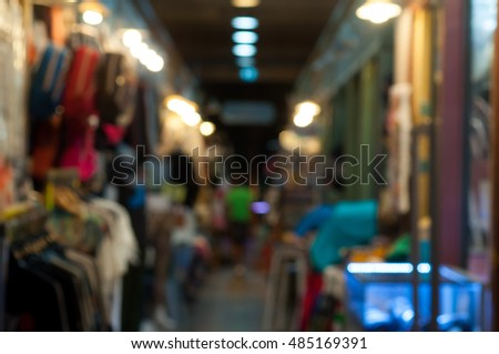 night market on street background with bokeh