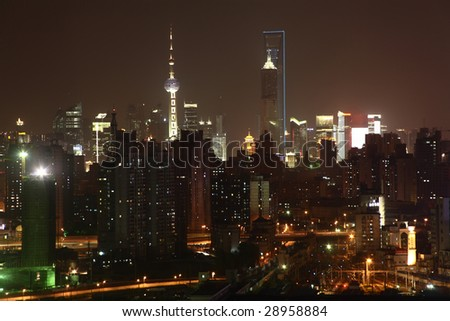 Night of Shanghai City