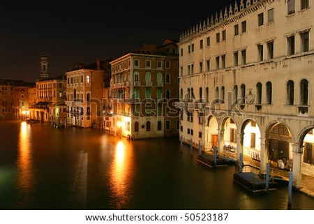 Night of view in Venice - stock photo