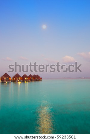Night on maldives - stock photo
