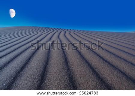 Night over the dune - stock photo