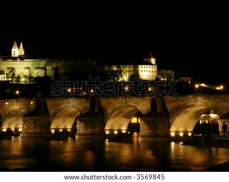 Night Prague. Old city. Czechia