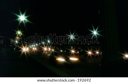 Night racing - stock photo