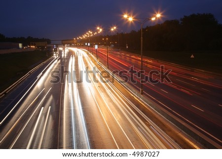 night road - stock photo